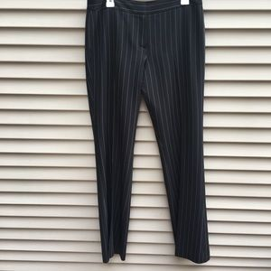 EUC Tahari boot cut wide leg pinstripe trousers